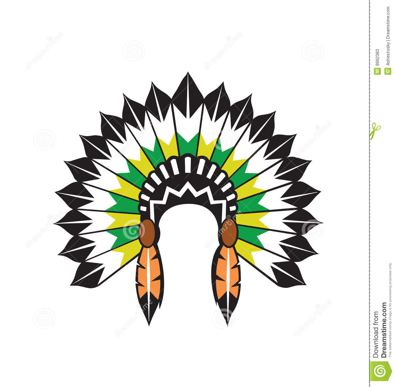 Indian Chief Hat Clipart.