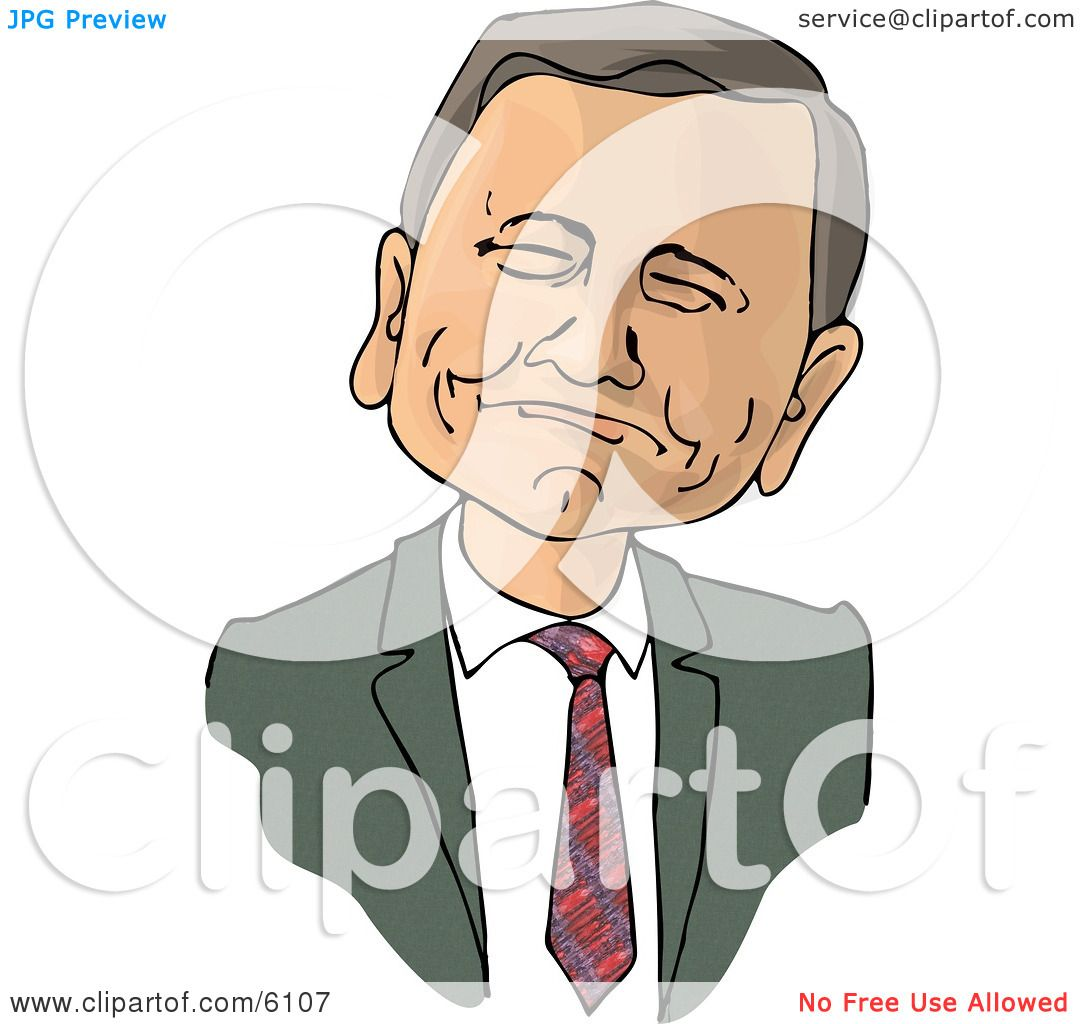 Chief Justice of the United States, John Roberts Clipart Picture.
