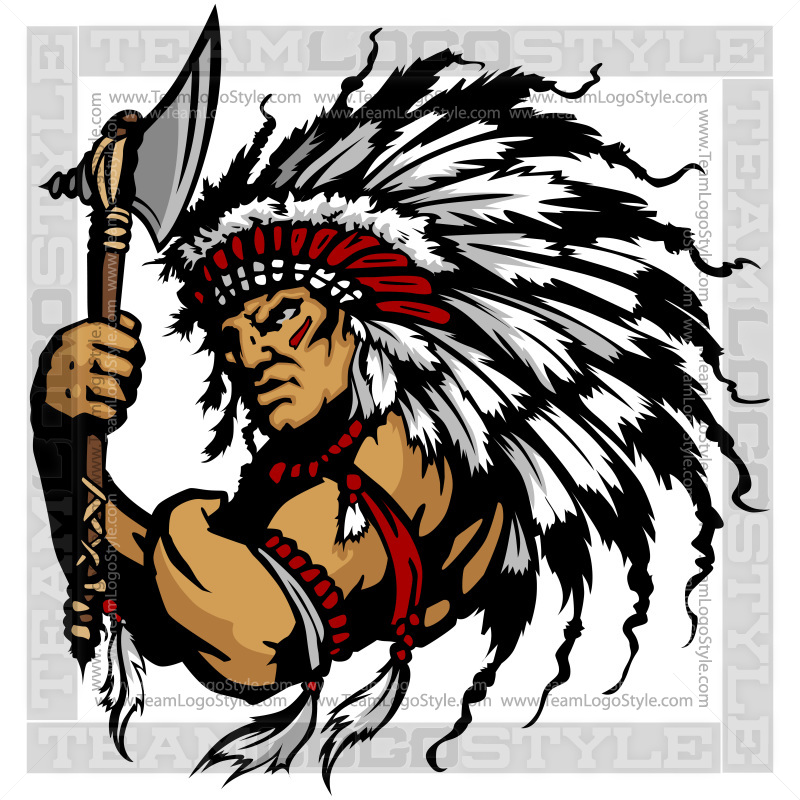 Indian Chief Clip Art.