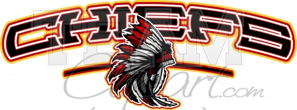 Chiefs Shirt Design in Vector format with Chief Clipart.