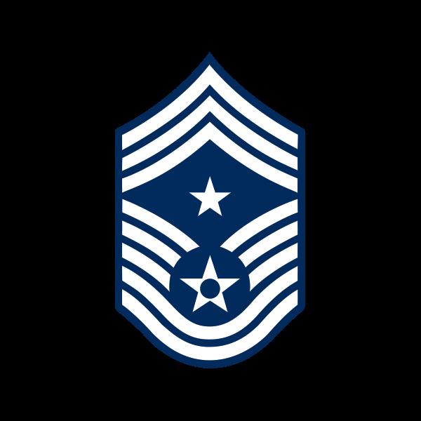 Printed vinyl Command Chief Master Sergeant.