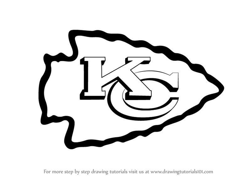 Learn How to Draw Kansas City Chiefs Logo (NFL) Step by Step.