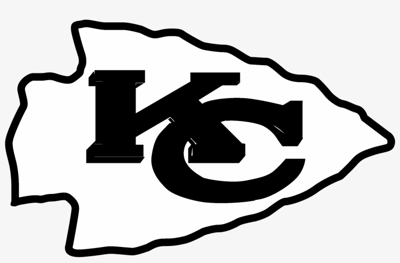 Kansas City Chiefs Logo Black And Ahite.