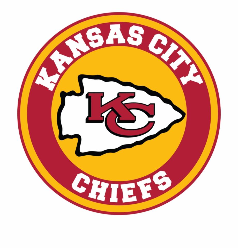 Kansas City Chiefs Circle Logo Vinyl Decal / Sticker.