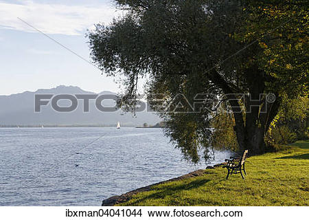 "Stock Photo of ""Frauenchiemsee or Fraueninsel island, Lake."