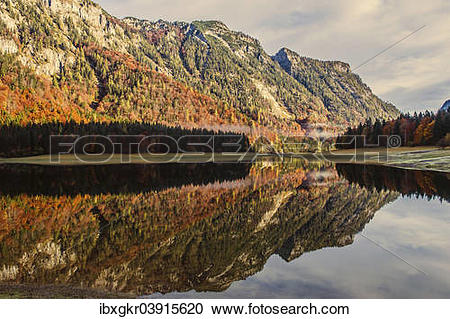 "Stock Photography of ""Lodensee Lake, Chiemgau Alps, Ruhpolding."