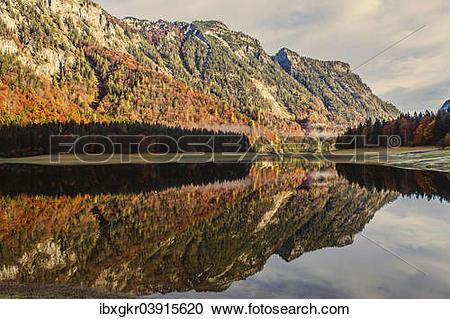 "Stock Photography of ""Lodensee Lake, Chiemgau Alps, Ruhpolding."