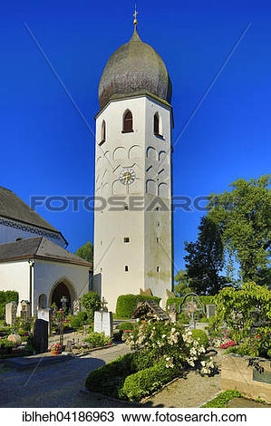 Stock Photo of Munster Frauenworth, monastery church, Fraueninsel.