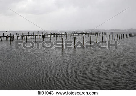 Stock Photo of Germany, Bavaria, Prien, Lake Chiemsee, Wooden.