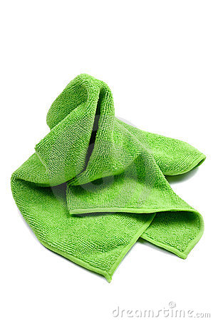 Green Cleaning Rag Stock Photos.