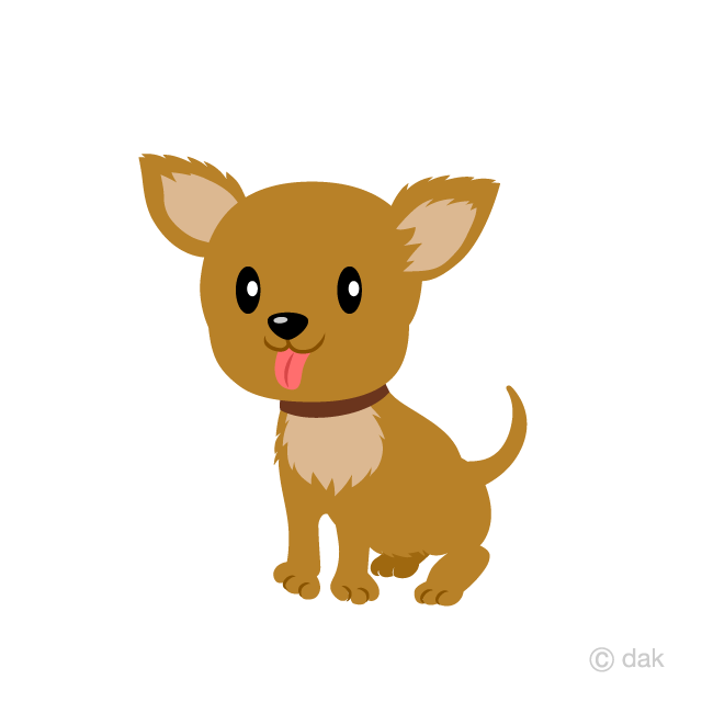 Cute Brown Chihuahua Dog Clipart Free Picture|Illustoon.