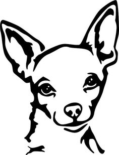 Chihuahua clipart black and white 1 » Clipart Station.