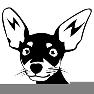 Chihuahua Clipart Black White.
