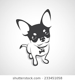 Chihuahua clipart black and white 4 » Clipart Station.