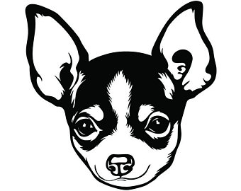 Chihuahua Clipart Black And White (94+ images in Collection) Page 2.
