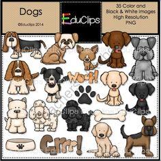 Dog Clipart, Puppy Clipart , cute dogs clip art, puppy clipart.