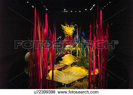 Pictures of Glass sculpture at the Chihuly Garden and Glass Museum.