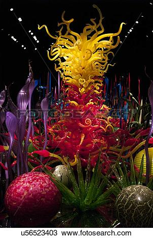 Stock Photo of Glass sculpture at the Chihuly Garden and Glass.