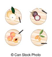 Chikoo Vector Clipart Royalty Free. 4 Chikoo clip art vector EPS.