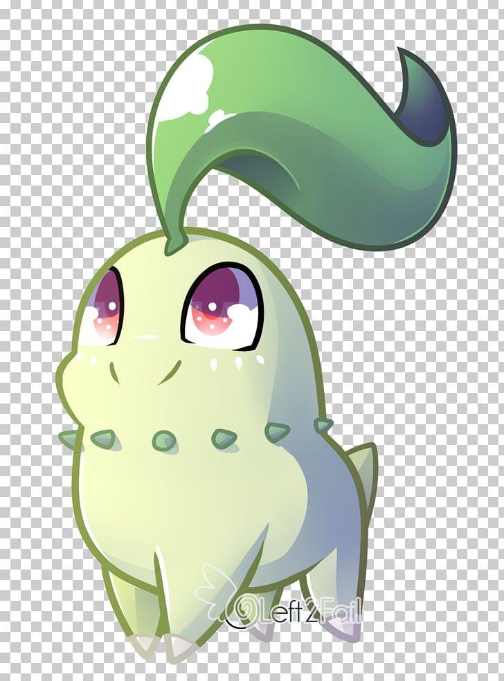 Chikorita Pokémon Chibi Drawing PNG, Clipart, Amphibian, Art.
