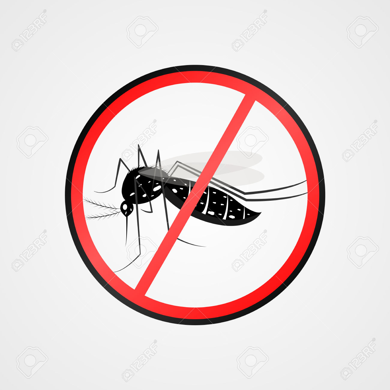 Anti Mosquito Symbol.Mosquito Warning Sign.Mosquitoes Carry Many.
