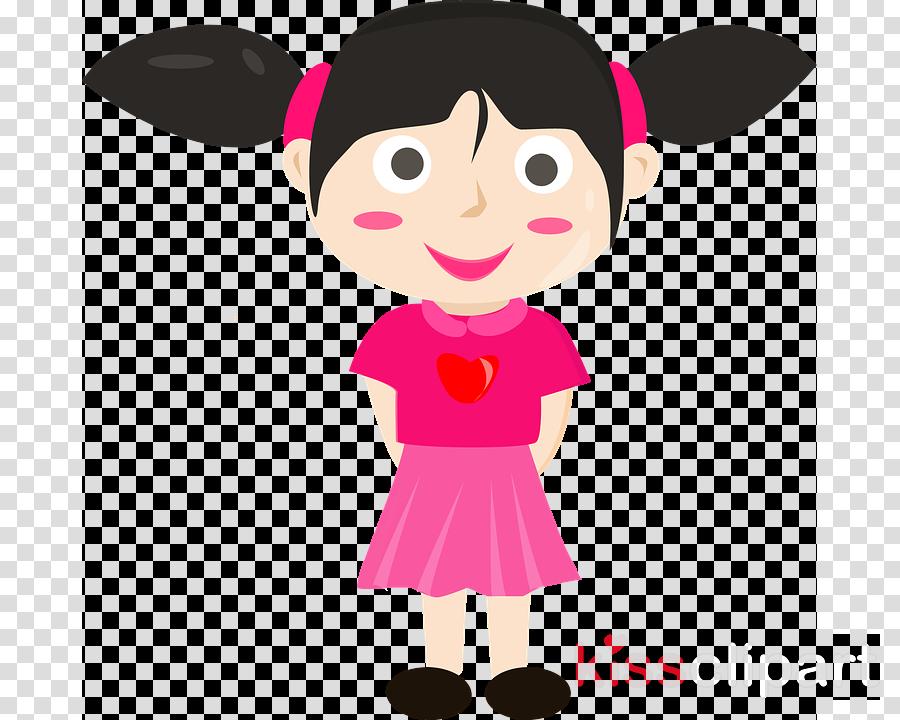 cartoon pink clip art child clipart.