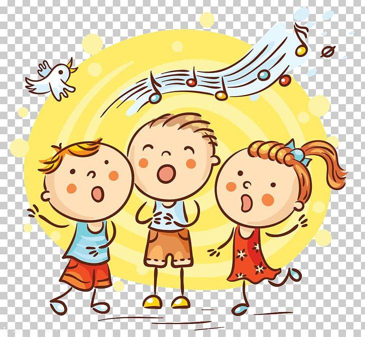 Singing Cartoon Song Illustration PNG, Clipart, Area, Cartoon Kid.
