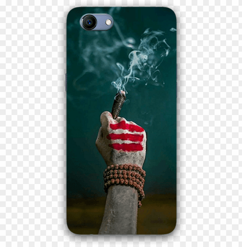 aghori hand with chilam oppo realmi 1 mobile back case.