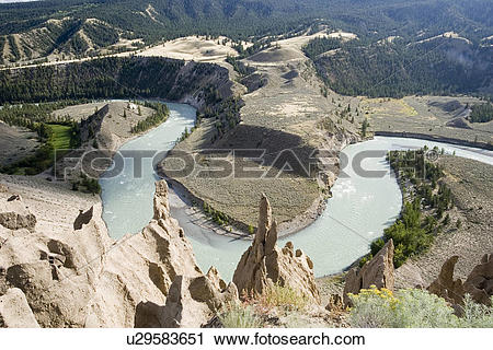 Stock Photography of Chilcotin River, Junction Sheep Range Area.