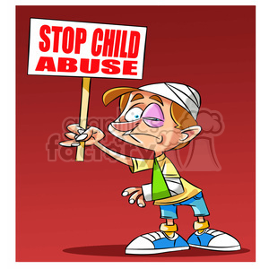 stop child abuse clipart. Royalty.