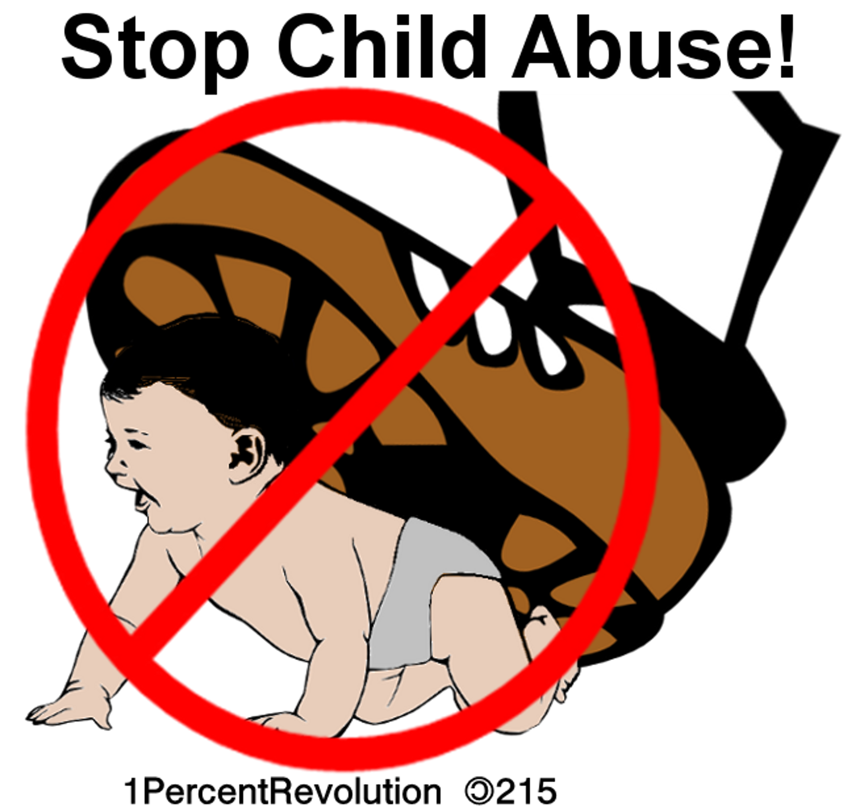 215 Child Abuse Clip Art free image.