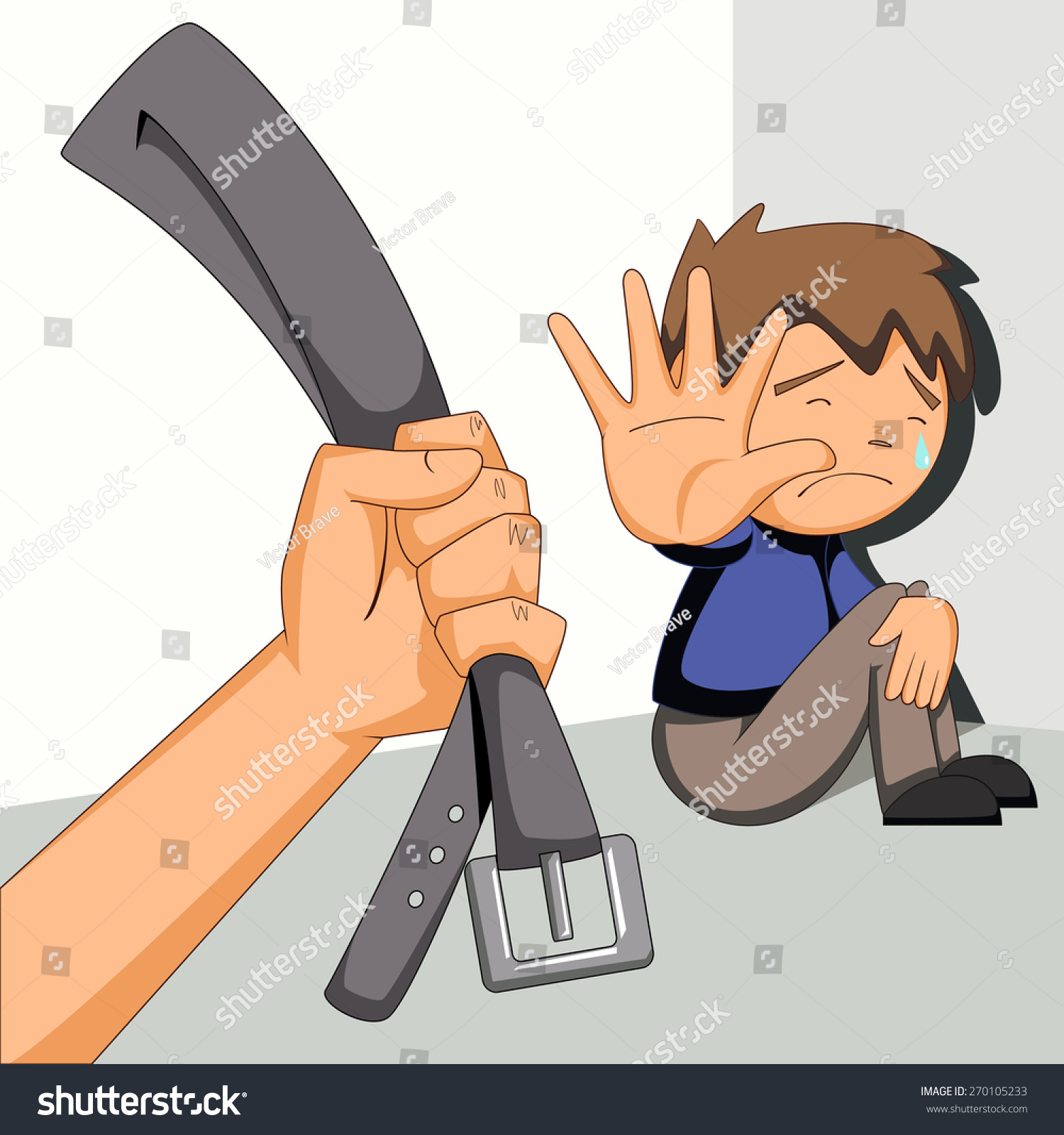 Child Abuse Vector Illustration Stock Vector (Royalty Free) 270105233.