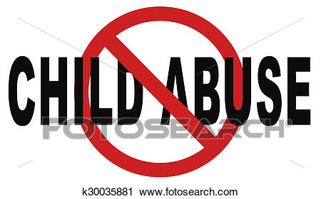 Stop child abuse Clip Art.