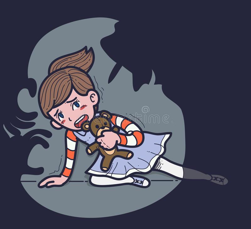Child Abuse Stock Illustrations.