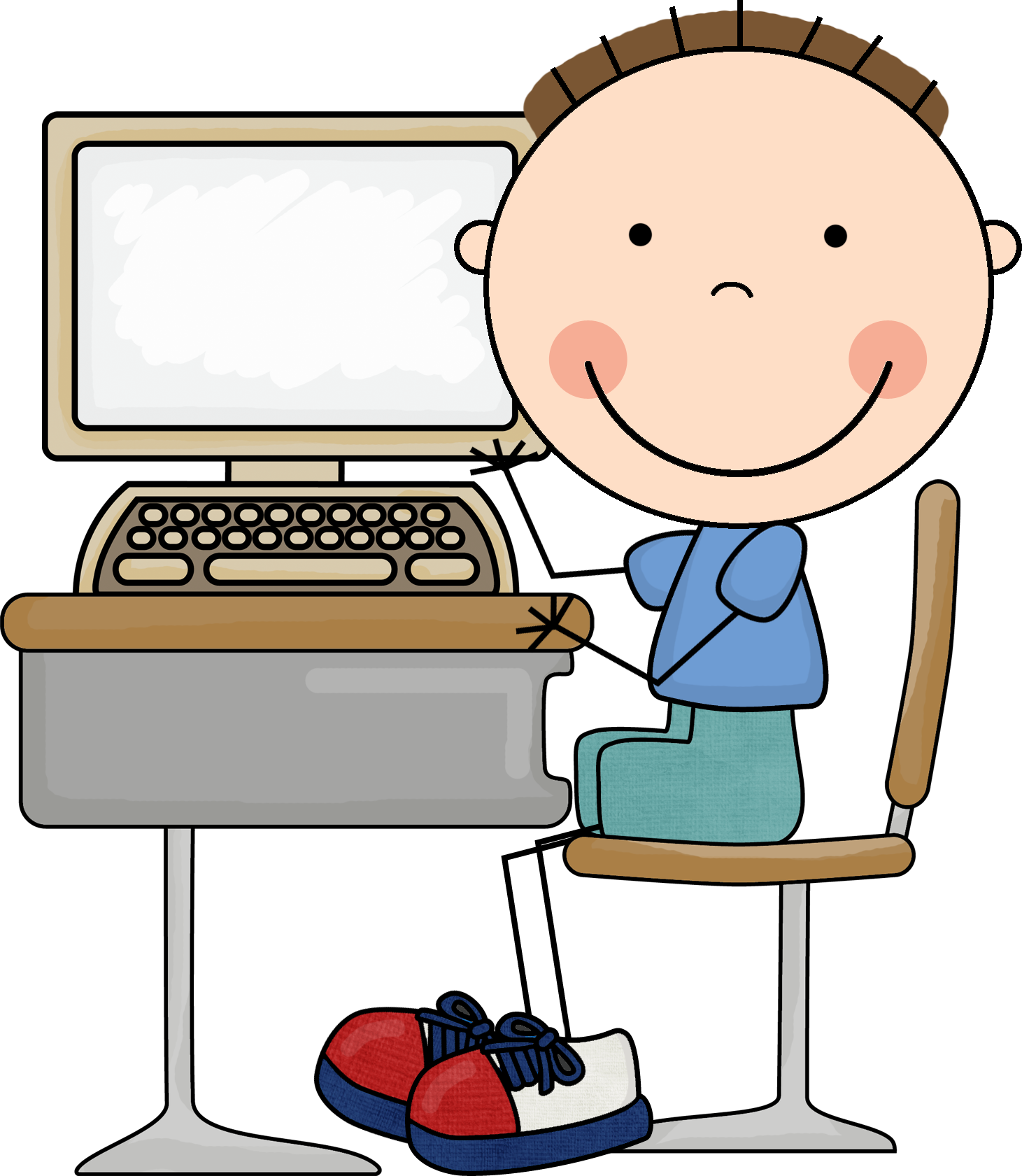 Computers clipart child, Computers child Transparent FREE.