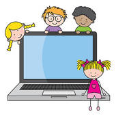 Child On Computer Clipart.