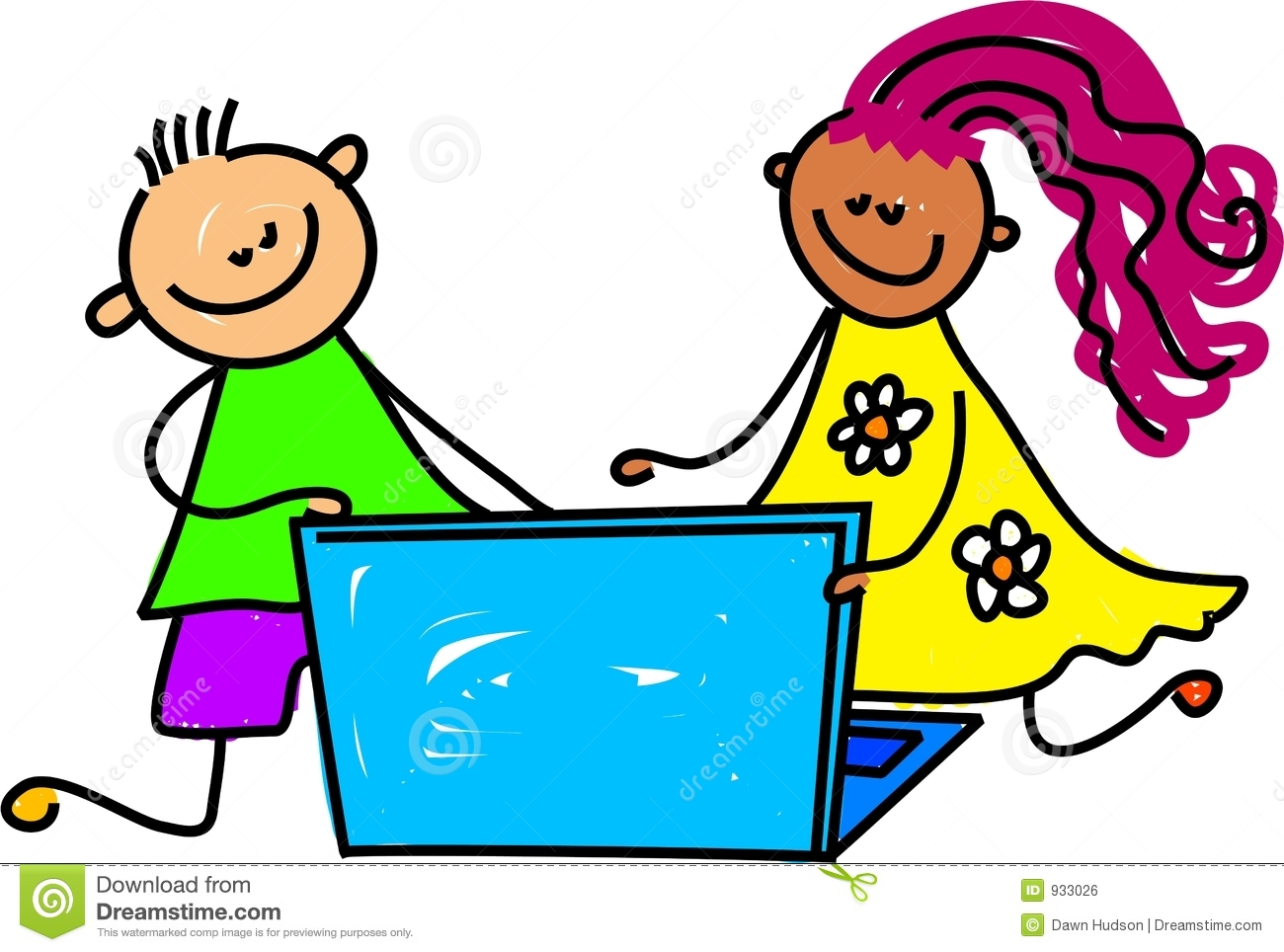 Kids and computer clipart 4 » Clipart Station.
