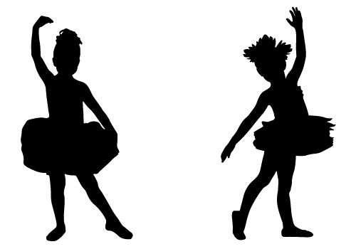 Two cute baby girls pose here as a Child Ballerina Silhouette.