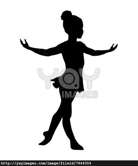 Royalty Free Vector of Little Ballerina Silhouette.