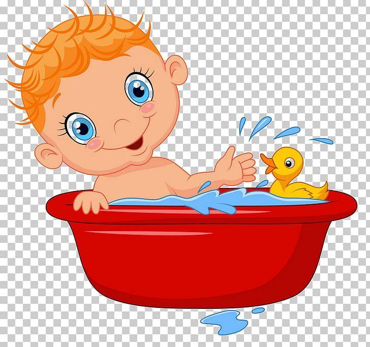 Cartoon Child Bathing PNG, Clipart, Art, Bathing, Bathtub.