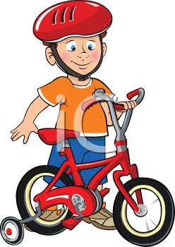 Boy bike clipart.