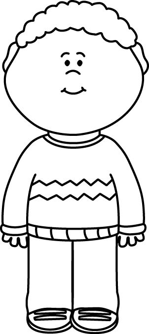 Child clipart black and white » Clipart Station.