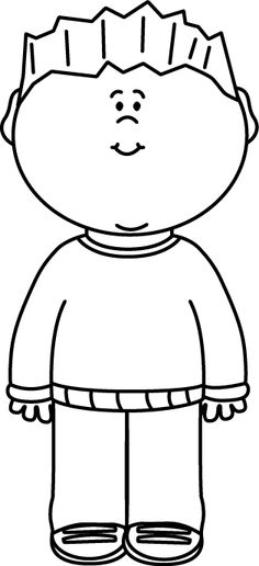 Child black and white clipart 5 » Clipart Station.