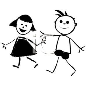 Free Clip Art Children Black And White.