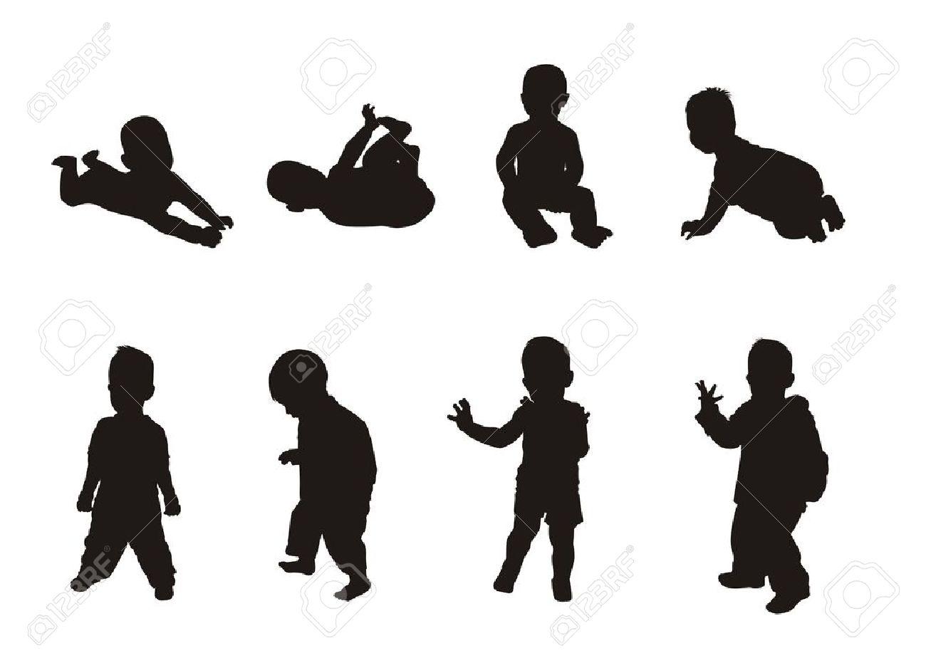 Clipart Silhouette Body Child.