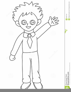 Child Body Outline Clipart.