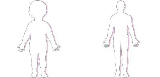 Human Drawing Outline.