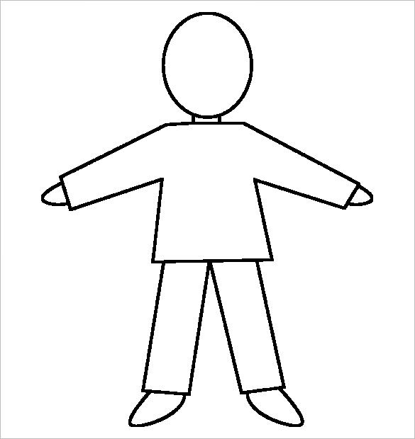 535 Body Outline free clipart.