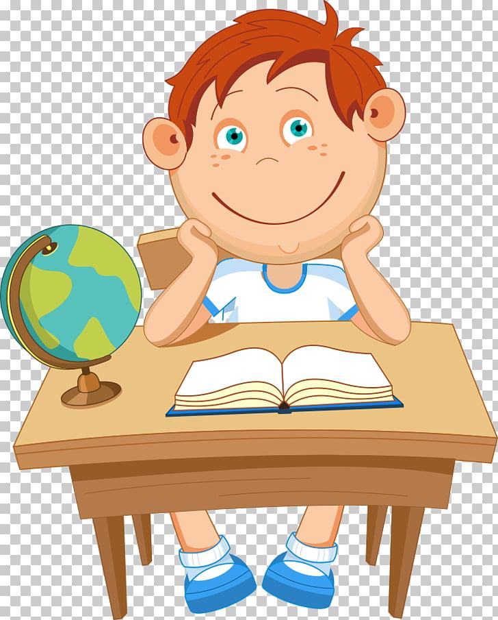 Euclidean School Illustration, school children, boy sitting.