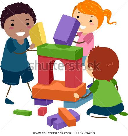 Kids Building Blocks Stock Images, Royalty.